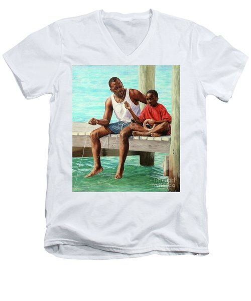 Together Time Men's V-Neck T-Shirt