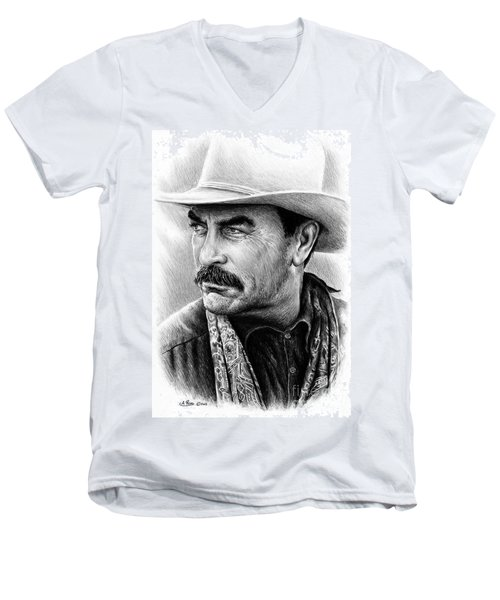 Tom Selleck Men's V-Neck T-Shirt