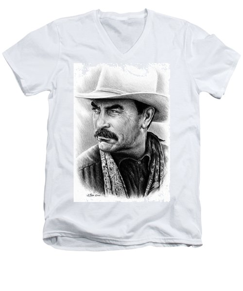 Tom Selleck As Monty Walsh Men's V-Neck T-Shirt