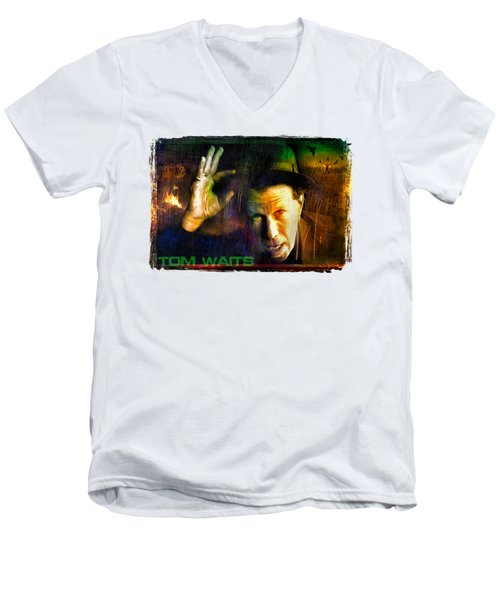 Tom Waits Men's V-Neck T-Shirt
