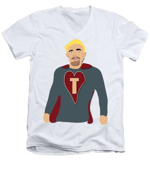 Tommy For Jenny And Jo Men's V-Neck T-Shirt