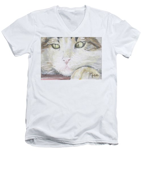 Tommy Men's V-Neck T-Shirt by Mary-Lee Sanders