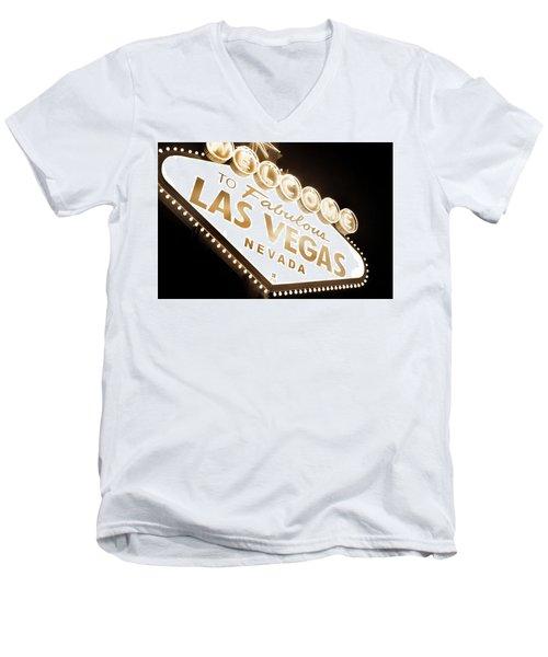 Tonight In Vegas Men's V-Neck T-Shirt