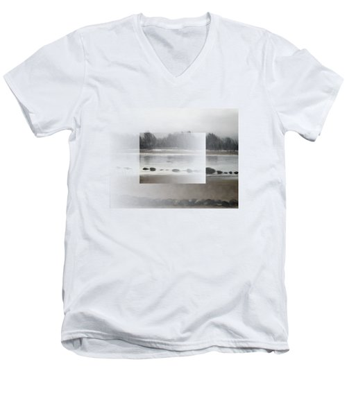 Men's V-Neck T-Shirt featuring the painting Too Early Out by Ivana