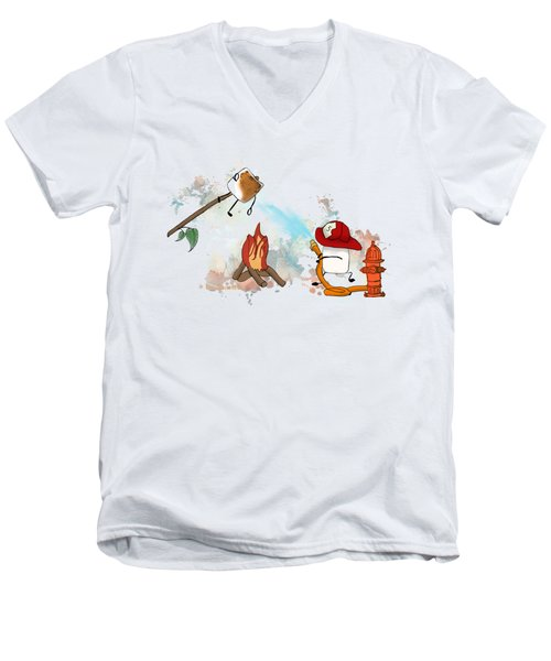 Too Toasted Illustrated Men's V-Neck T-Shirt