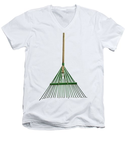 Tools On Wood 10 On Bw Men's V-Neck T-Shirt by YoPedro