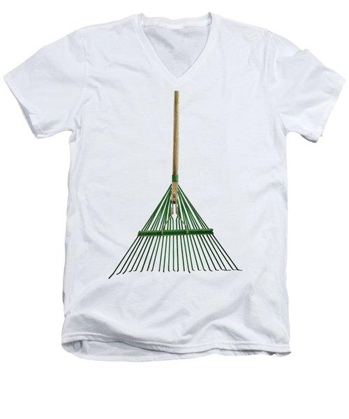 Tools On Wood 10 On Bw Men's V-Neck T-Shirt