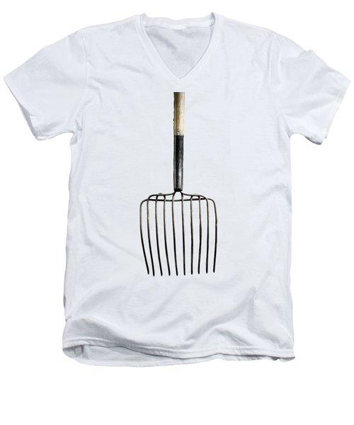 Tools On Wood 25 On Bw Men's V-Neck T-Shirt