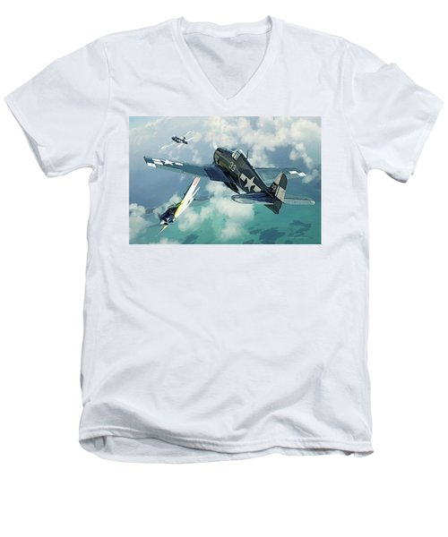 Top Cover Men's V-Neck T-Shirt