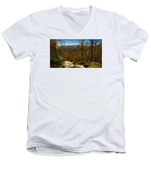 Top Of Amicola Falls Men's V-Neck T-Shirt