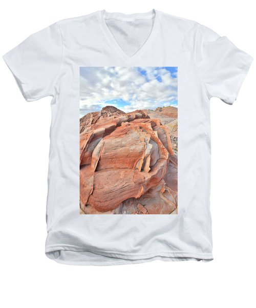 Top Of The World At Valley Of Fire Men's V-Neck T-Shirt