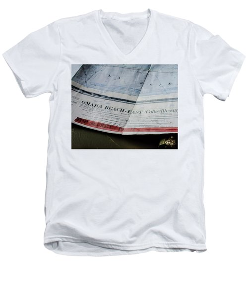 Top Secret - Omaha Beach Men's V-Neck T-Shirt