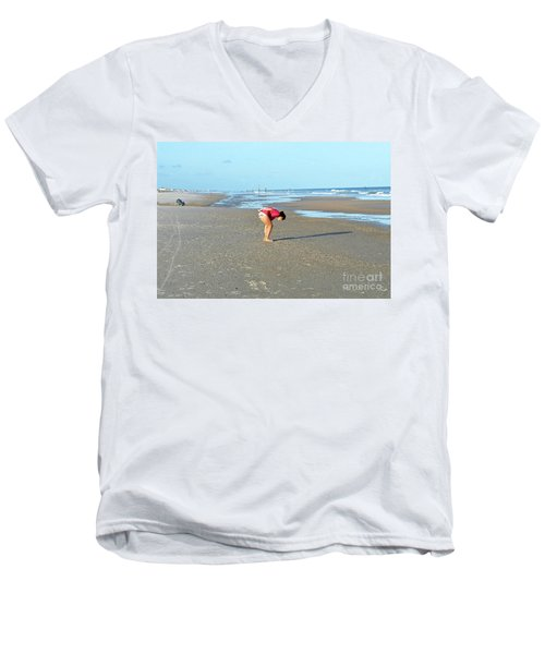 Topsail Island Beach Men's V-Neck T-Shirt