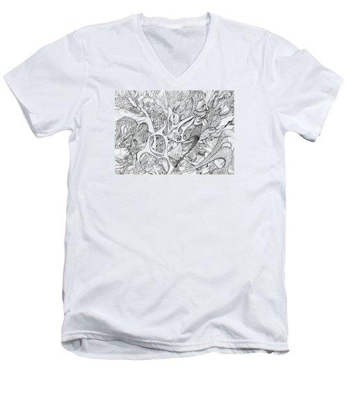 Tortuosity Men's V-Neck T-Shirt by Charles Cater