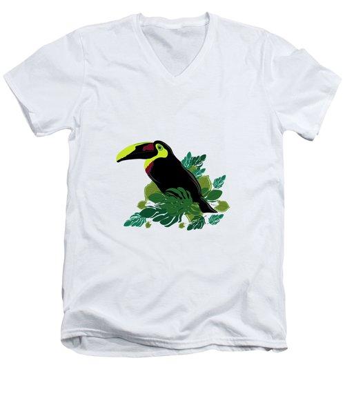Toucan Men's V-Neck T-Shirt by Vanessa GFG