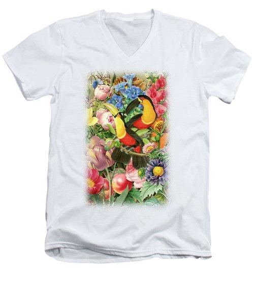 Toucans Men's V-Neck T-Shirt by Gary Grayson