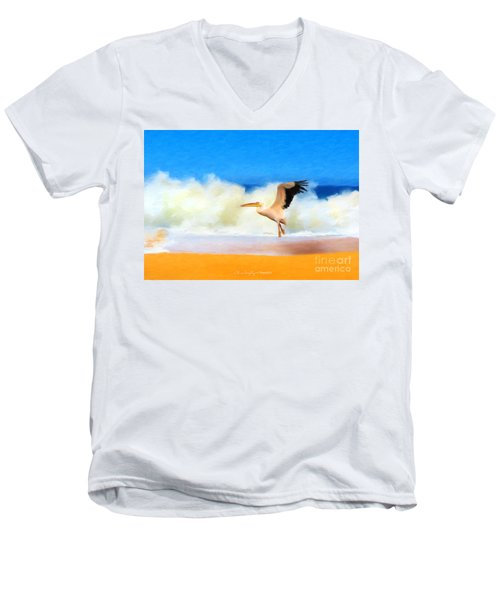 Touch Down Men's V-Neck T-Shirt