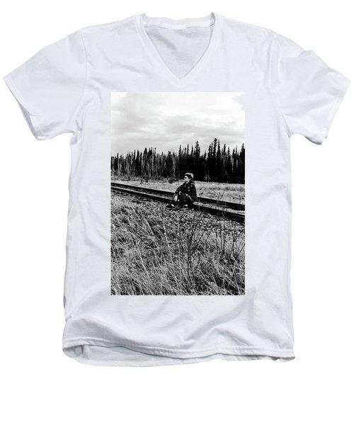 Men's V-Neck T-Shirt featuring the photograph Tough Times by Tara Lynn