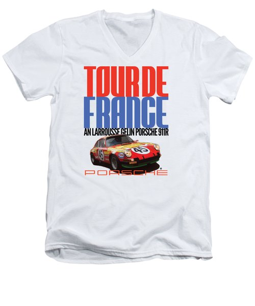Tour De France Porsche Men's V-Neck T-Shirt