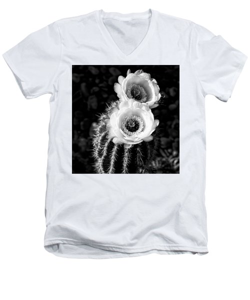 Tourch Cactus Bloom Men's V-Neck T-Shirt