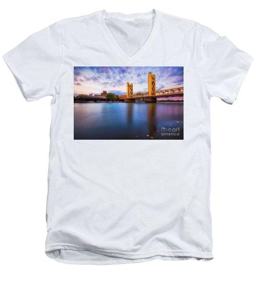 Tower Bridge Sacramento 3 Men's V-Neck T-Shirt