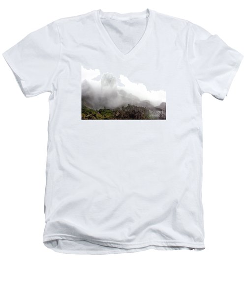 Men's V-Neck T-Shirt featuring the photograph Watch The Clouds Roll By by Dana DiPasquale