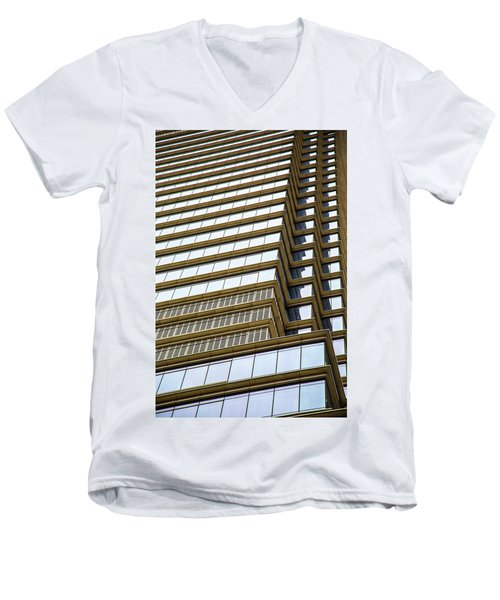 Men's V-Neck T-Shirt featuring the photograph Towering Windows by Karol Livote