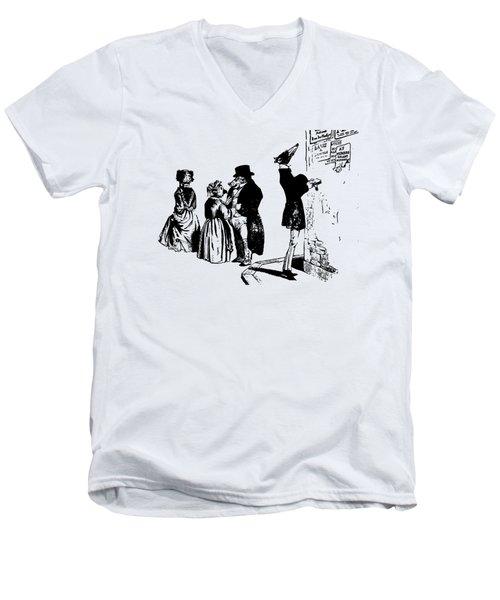 Town Square Grandville Transparent Background Men's V-Neck T-Shirt