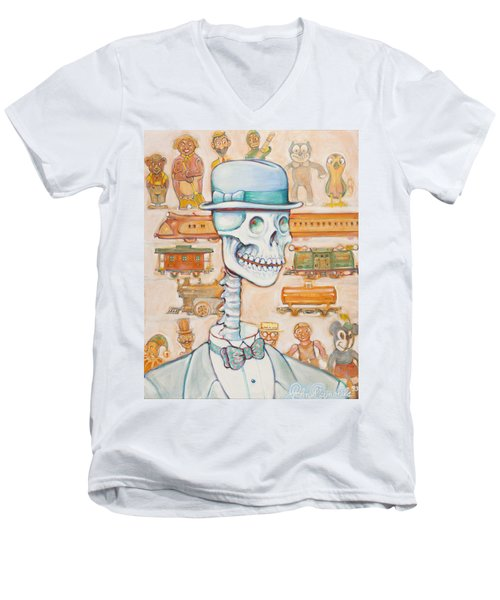 Toy Bones Men's V-Neck T-Shirt