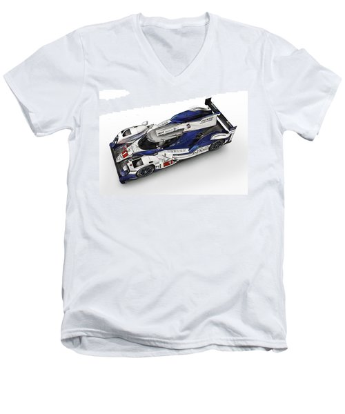 Toyota Ts030 Hybrid Men's V-Neck T-Shirt