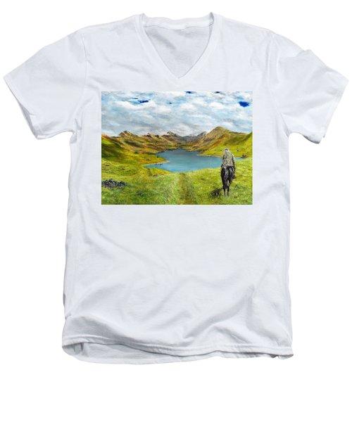 Tracking Niseag Men's V-Neck T-Shirt