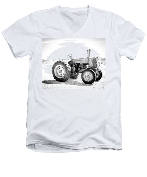 Tractor Men's V-Neck T-Shirt by Silvia Bruno