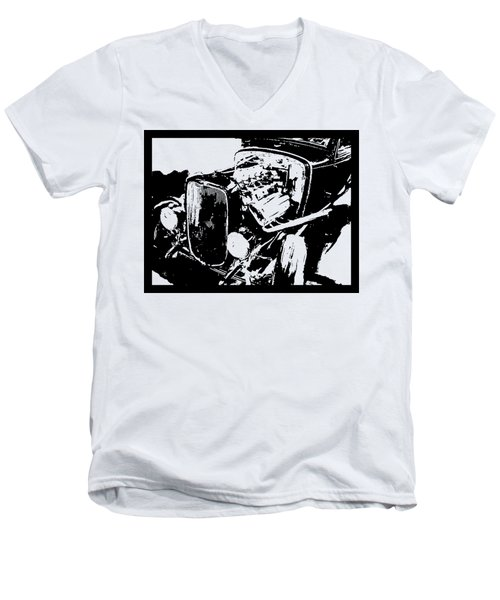 Traditional Hemi Hot Rod Tee Men's V-Neck T-Shirt