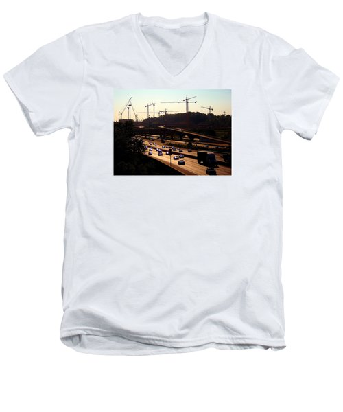 Traffic And Cranes Men's V-Neck T-Shirt