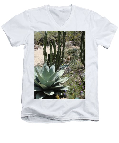 Trail Of Cactus Men's V-Neck T-Shirt