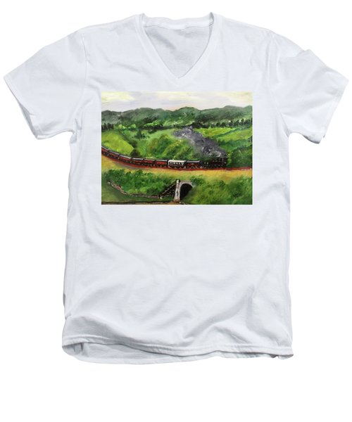 Train In The Country Men's V-Neck T-Shirt
