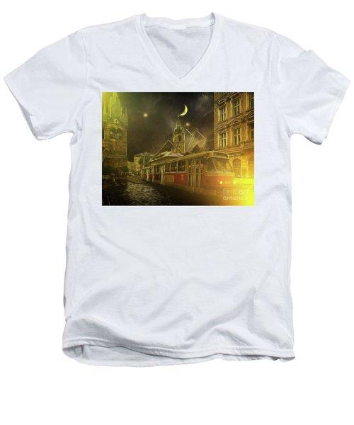 Tramatic - Prague Street Scene Men's V-Neck T-Shirt