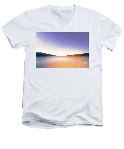 Tranquil Afternoon At The Lake Men's V-Neck T-Shirt