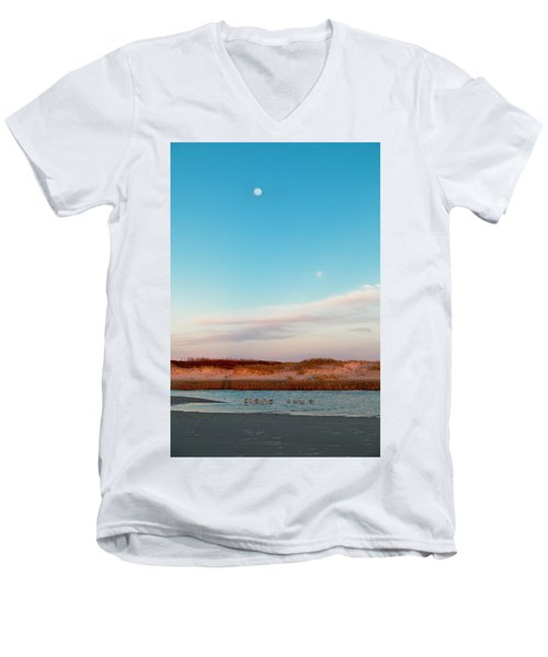 Tranquil Heaven Men's V-Neck T-Shirt by Betsy Knapp