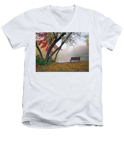 Tranquil View Men's V-Neck T-Shirt by Betsy Zimmerli