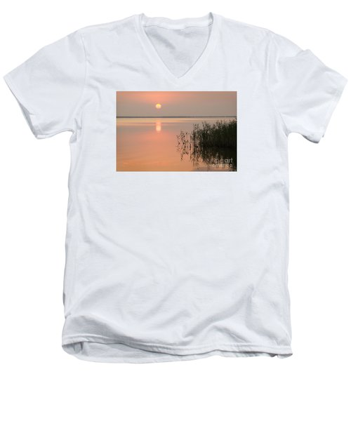 Men's V-Neck T-Shirt featuring the photograph Tranquility by Inge Riis McDonald