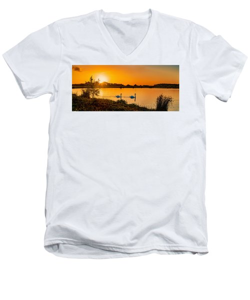 Men's V-Neck T-Shirt featuring the photograph Tranquility by Nick Bywater