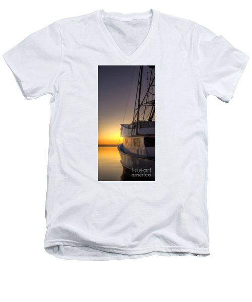 Tranquility On The Bay Men's V-Neck T-Shirt