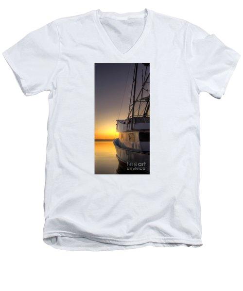 Tranquility On The Bay Men's V-Neck T-Shirt