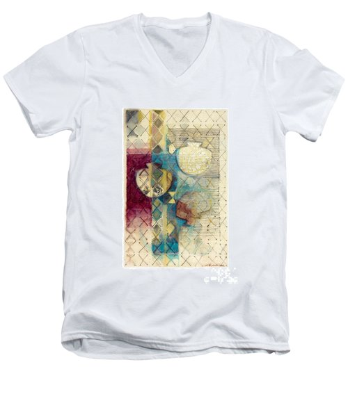 Trans Xs No 1 Men's V-Neck T-Shirt by Kerryn Madsen- Pietsch