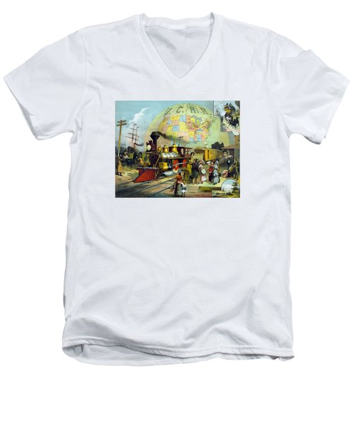Transcontinental Railroad Men's V-Neck T-Shirt