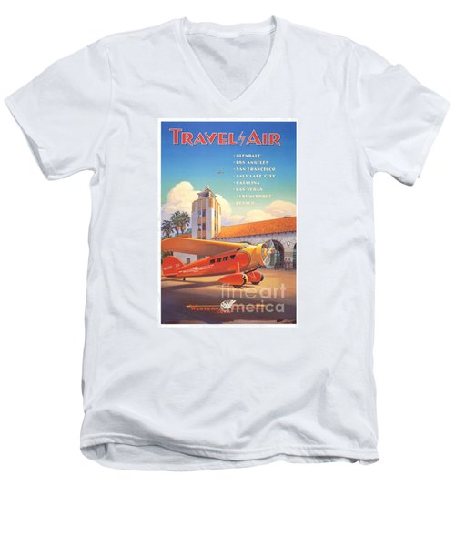 Travel By Air Men's V-Neck T-Shirt
