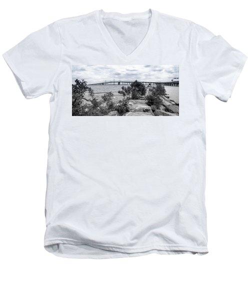 Traversing The Chesapeake Men's V-Neck T-Shirt