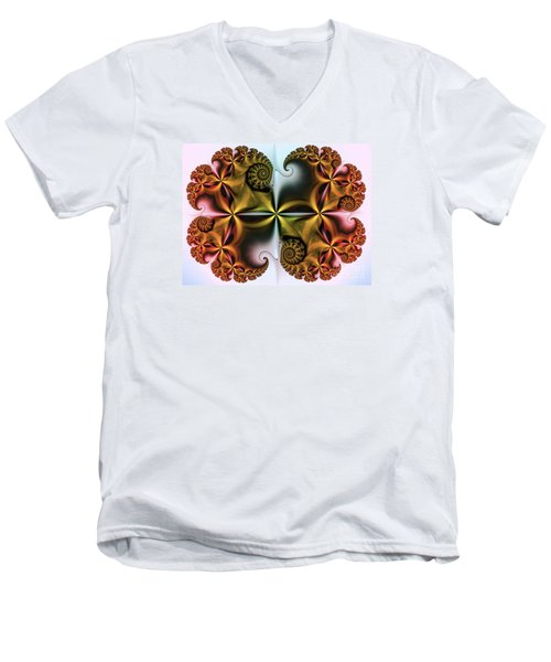 Men's V-Neck T-Shirt featuring the digital art Treasure by Karin Kuhlmann