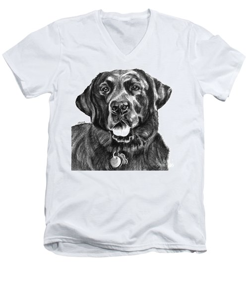 Treasured Lab Men's V-Neck T-Shirt